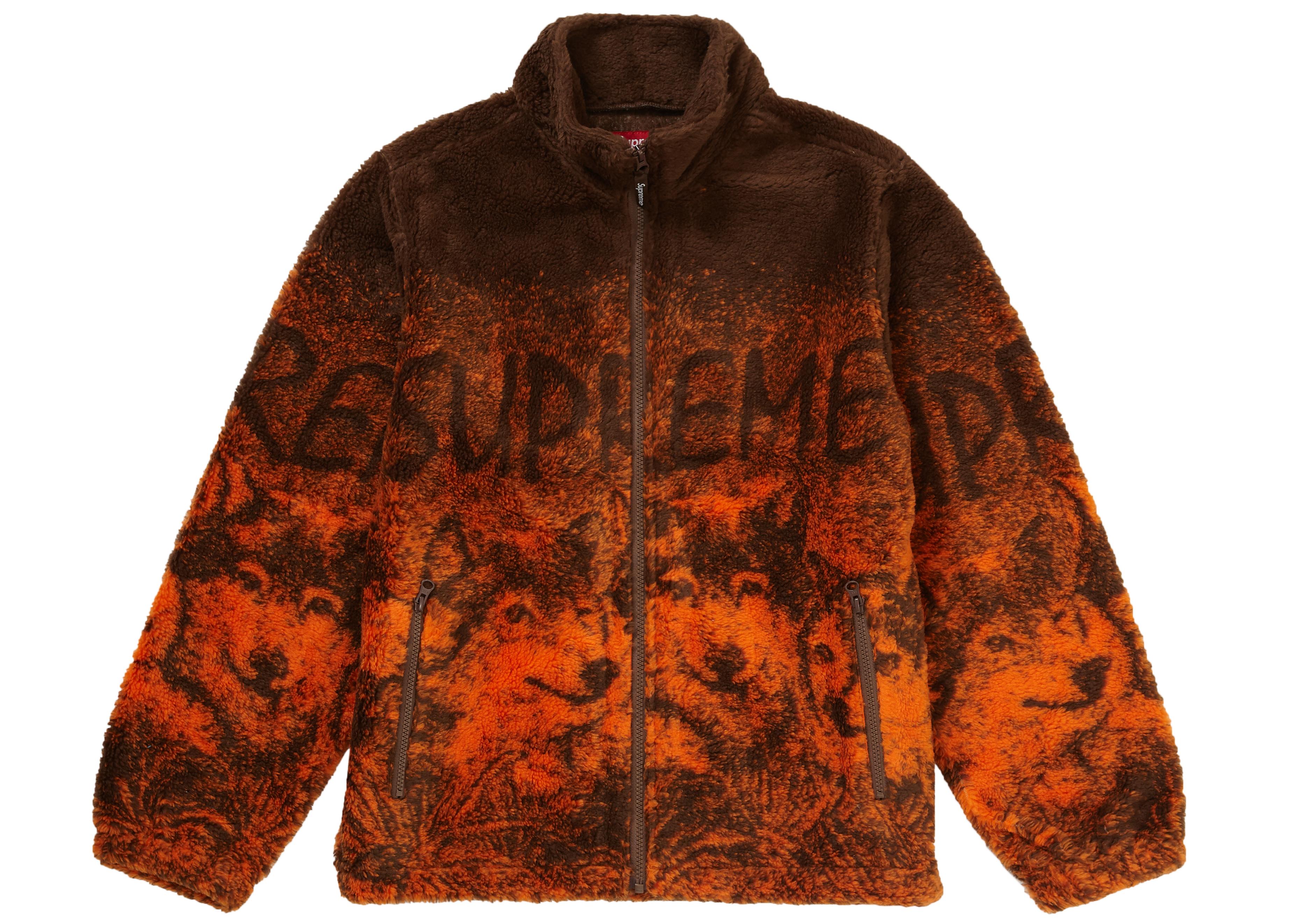 Supreme Wolf Fleece Jacket Brown