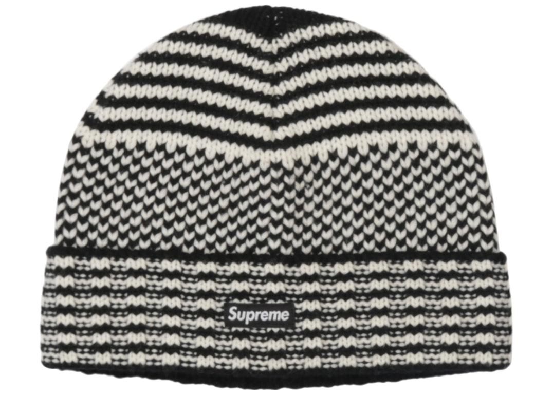 Supreme Wool Jacquard Beanie Black