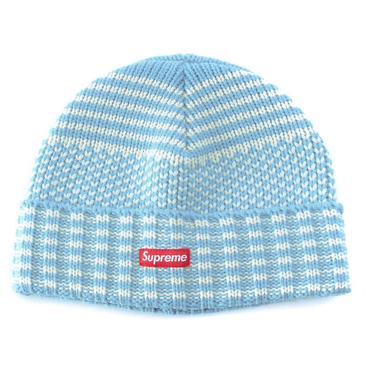 Supreme Wool Jacquard Beanie Light Blue