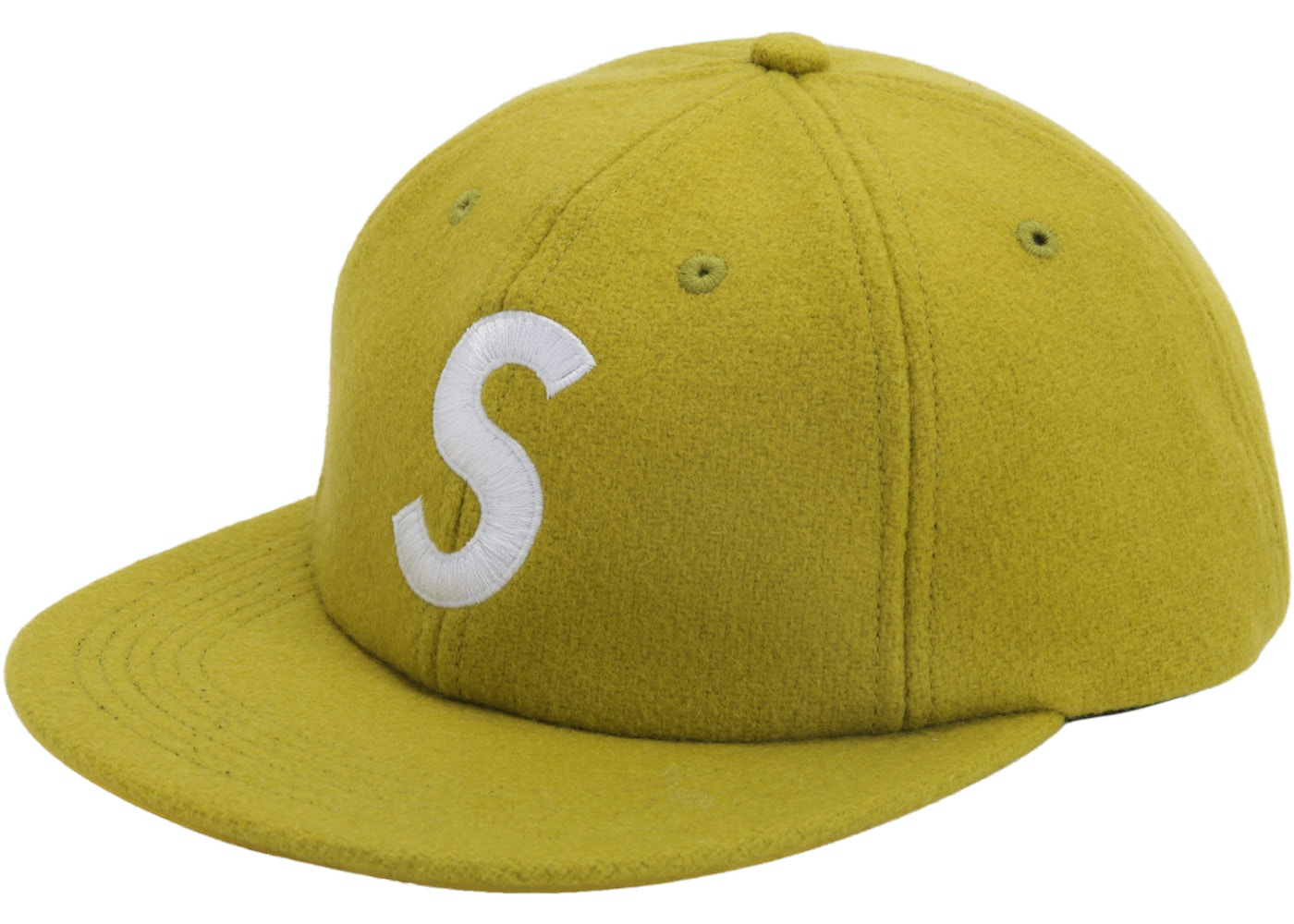 Supreme Wool S Logo 6 Panel Lime
