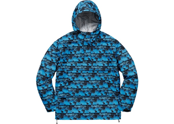 ccee649d85dc ... Supreme World Famous Taped Seam Hooded Pullover Pullover Blue - SS18 ...