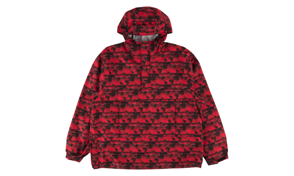 Supreme World Famous Taped Seam Hooded Pullover Pullover Red