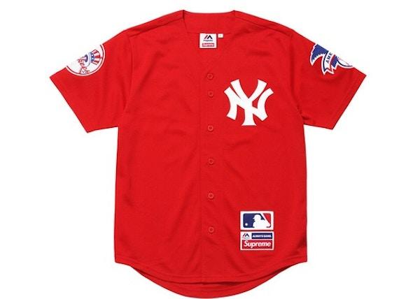 353b2bda6 Supreme Yankees Baseball Jersey Red - SS15