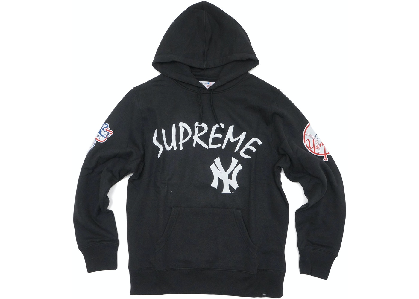 buy popular c198d 8b444 Supreme Yankees Hooded Sweatshirt Black