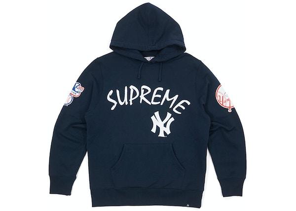 info for ea880 0d844 Supreme Yankees Hooded Sweatshirt Navy