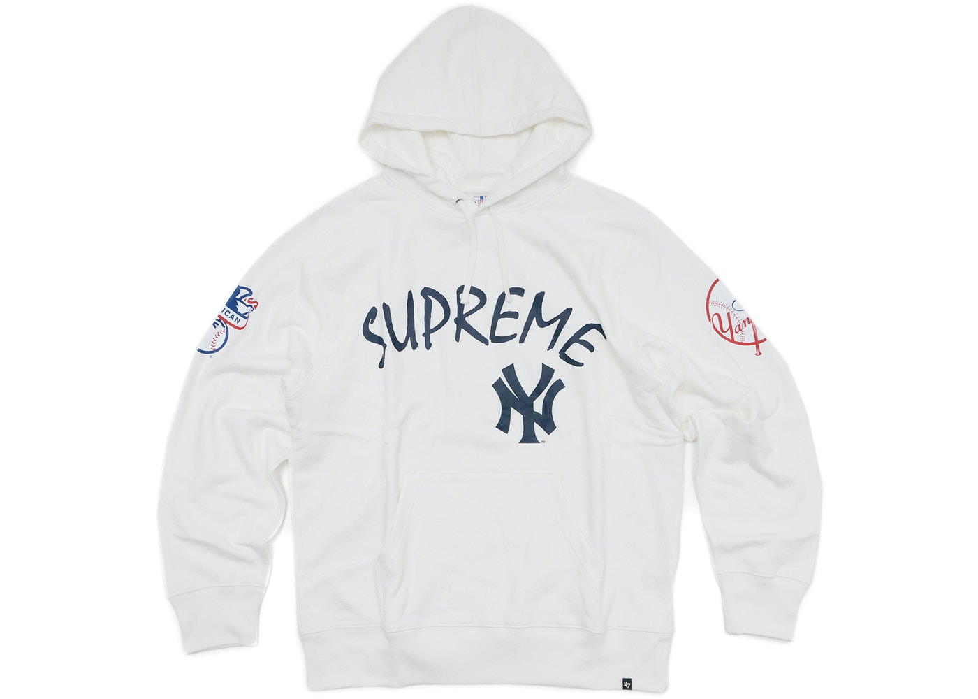 sports shoes 16a07 ad14a Supreme Yankees Hooded Sweatshirt White