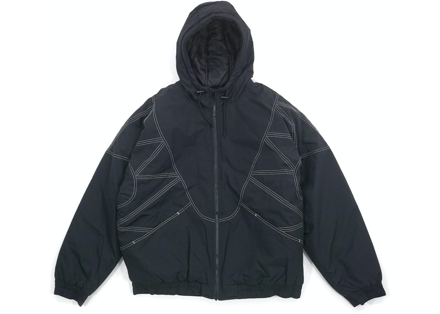 d8d45421 Supreme Zig Zag Stitch Puffy Jacket Black - FW18
