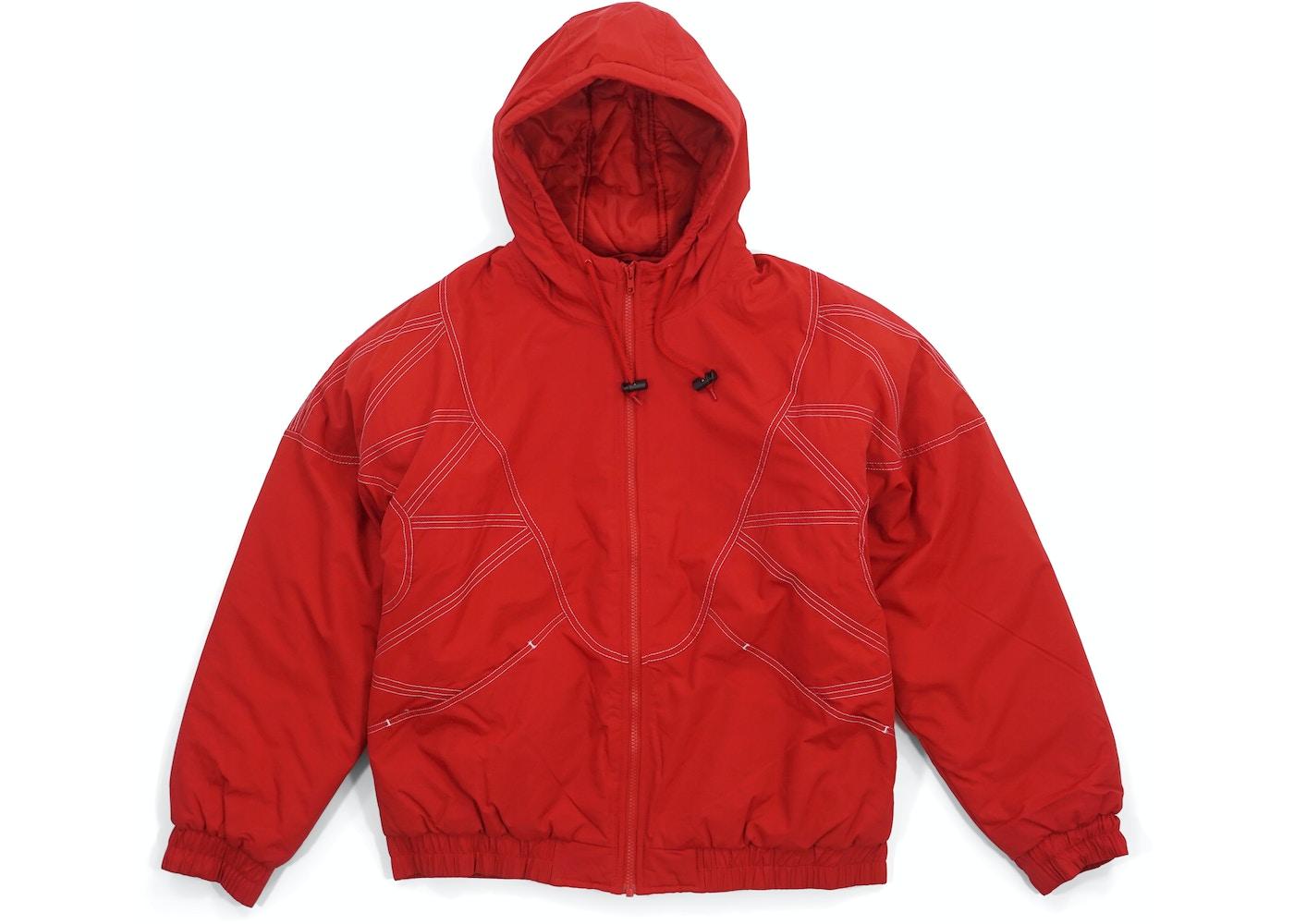 f5a51eb2 Supreme Zig Zag Stitch Puffy Jacket Red - FW18