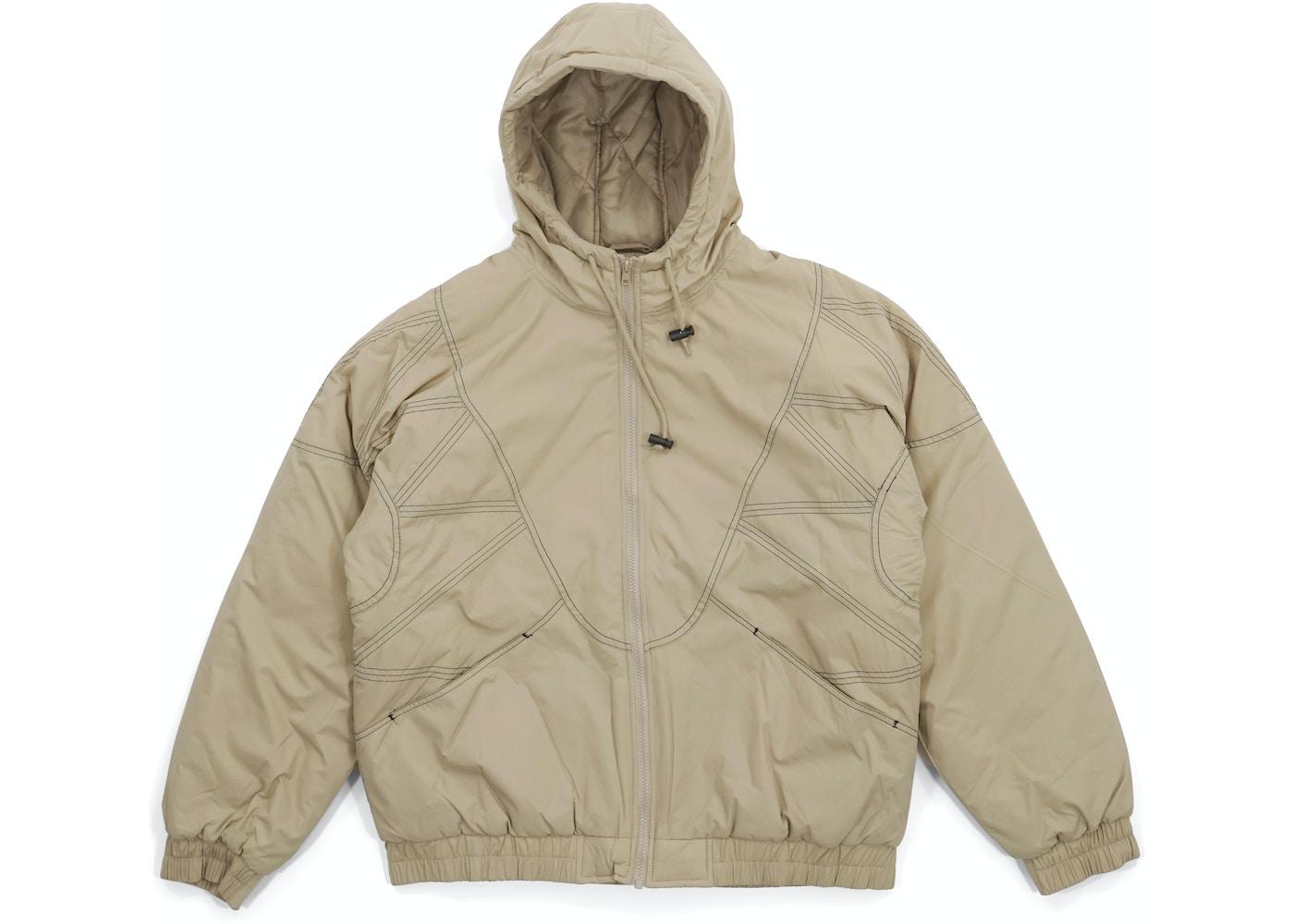 c82b71a6 Supreme Zig Zag Stitch Puffy Jacket Tan - FW18