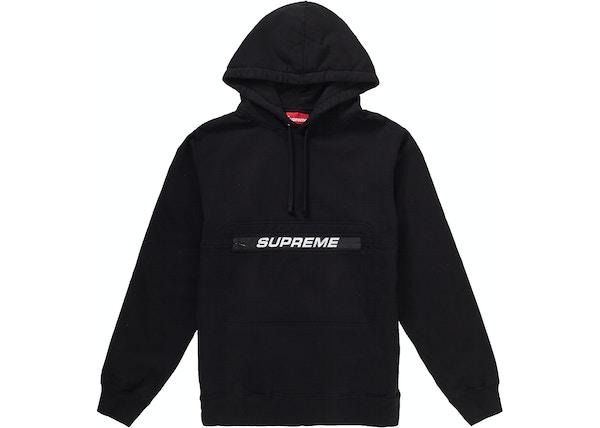 5f64a2ff Supreme Zip Pouch Hooded Sweatshirt Black