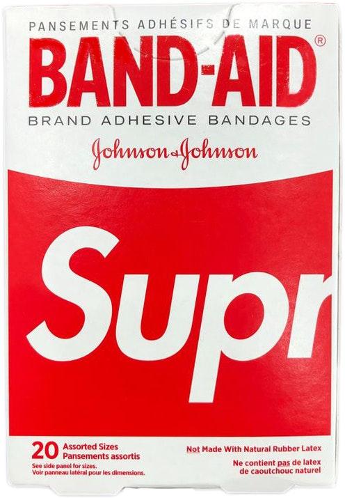 Supreme x Band Aid Adhesive Bandages (Box of 20) Red