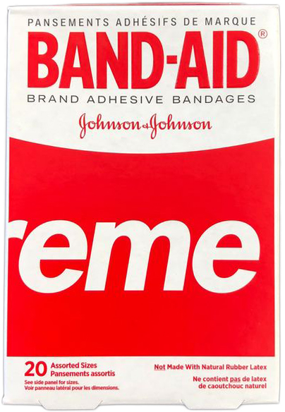 2019 Supreme X Band Aid Brand