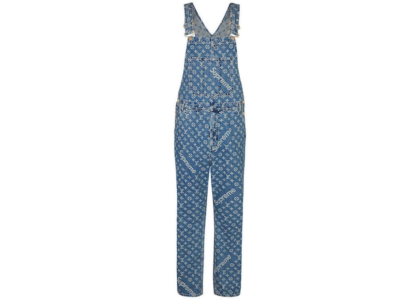3bed67854d5 Sell. or Ask. Size: 36. View All Bids. Supreme x Louis Vuitton Jacquard  Denim Overalls Blue