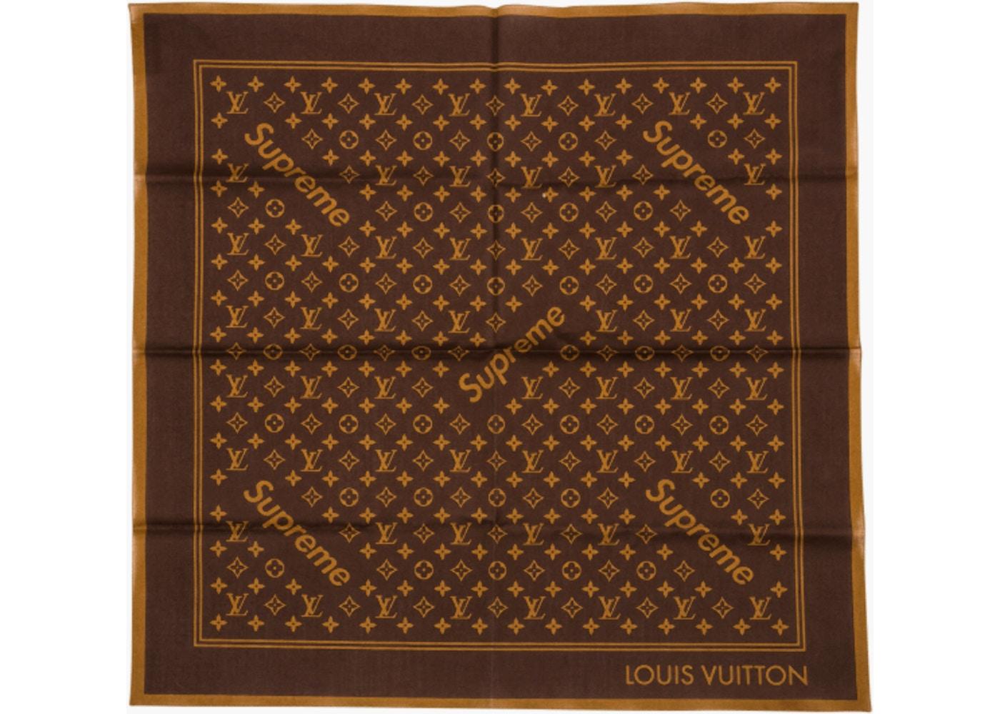 b1e6b36ee839 Supreme x Louis Vuitton Monogram Bandana Brown - SS17