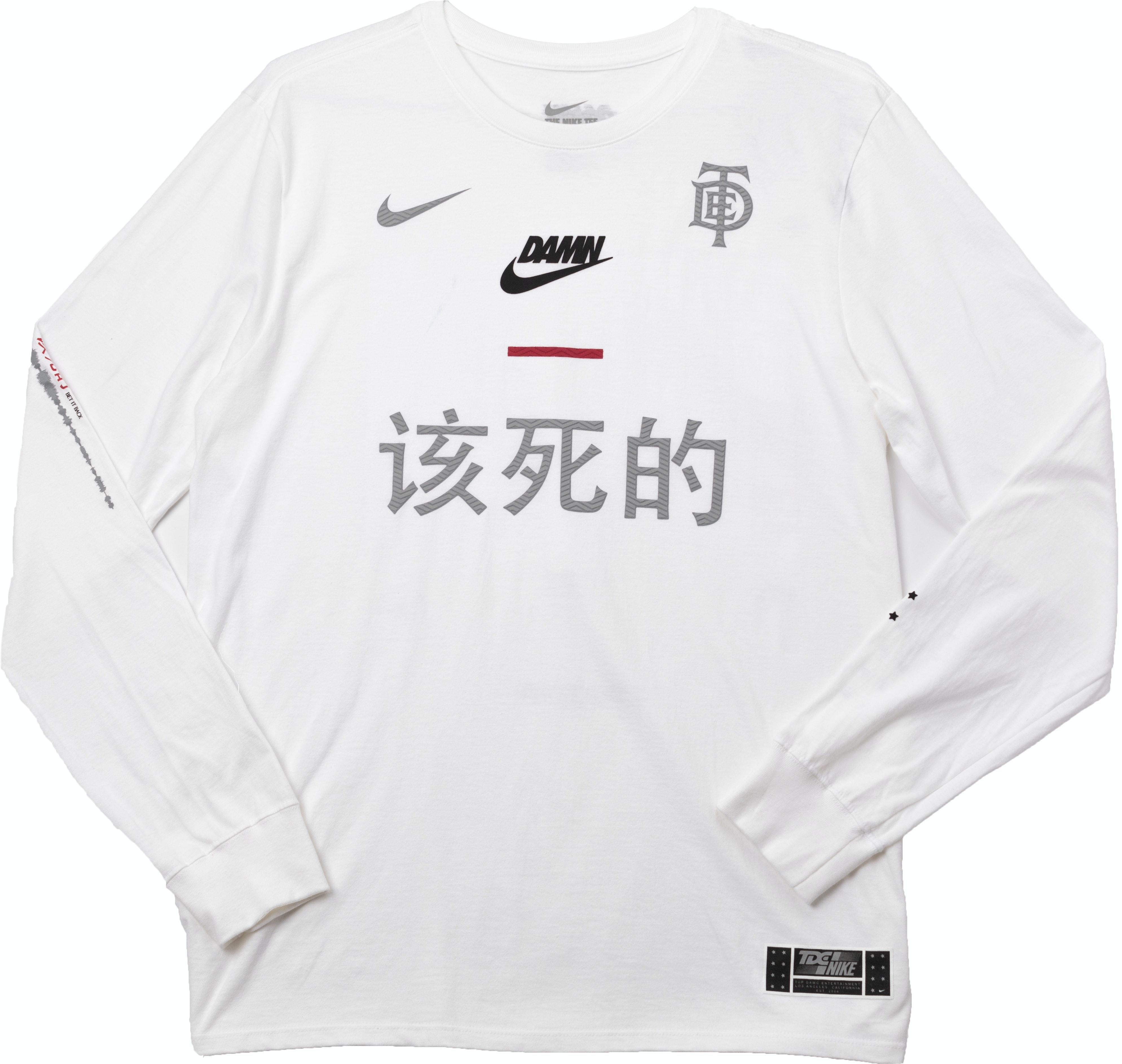 Tde X Nike Swoosh Long Sleeve Tde White by Stock X
