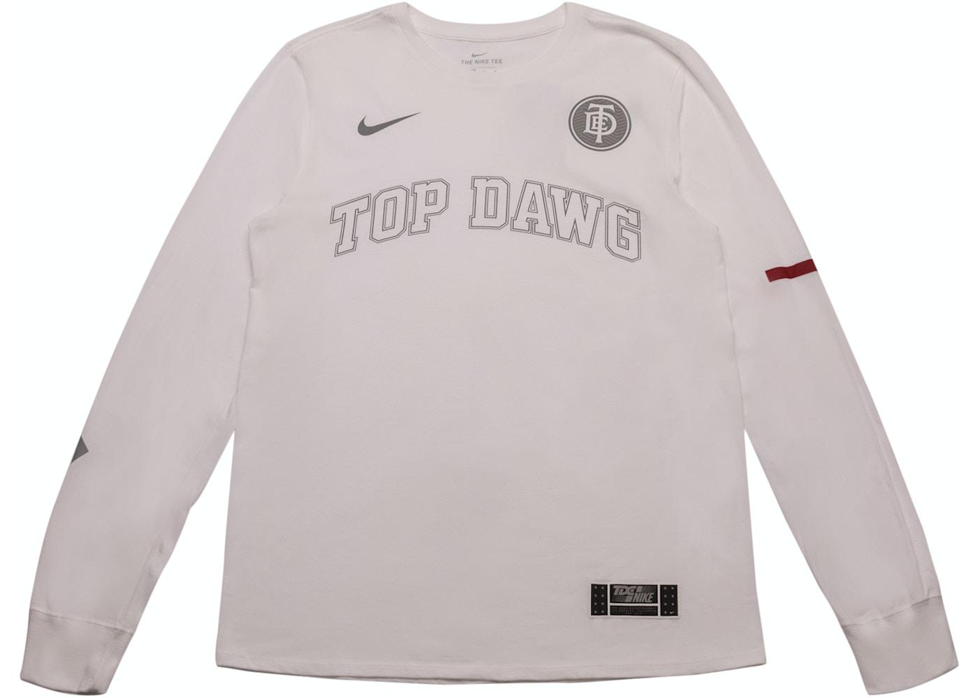 a03595c2 TDE x Nike Top Dawg Arc Long Sleeve TDE White - SS18