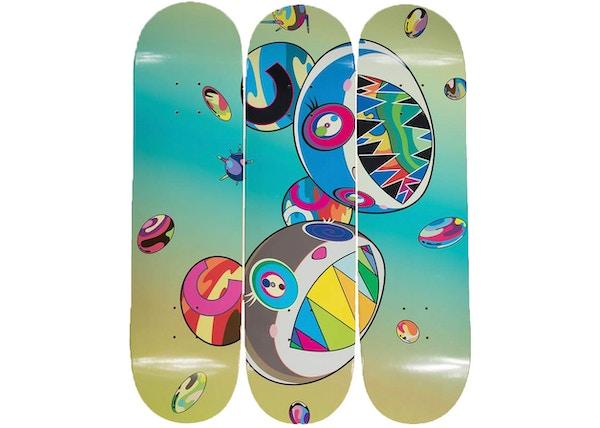 0ec46366 Takashi Murakami ComplexCon Sharp Tooth Bear Skate Deck (Set of 3) Multi