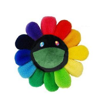 Takashi Murakami Flower Plush Rainbow/Black by Stock X