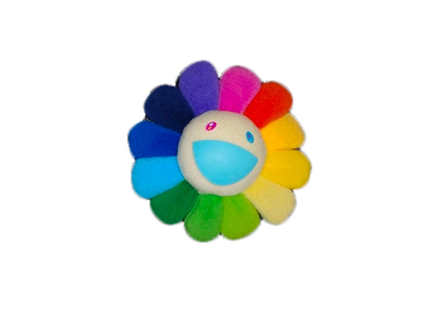 Takashi Murakami Flower Plush Pin Rainbow/White by Stock X