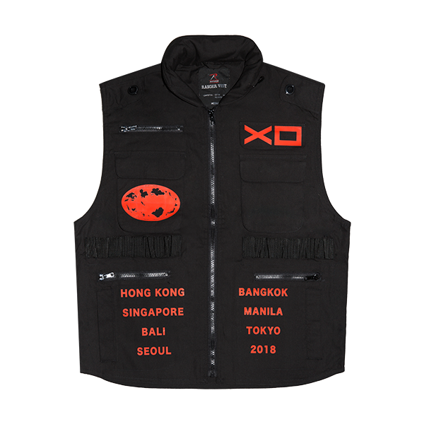 Pre-owned The Weeknd Xo Asia Tour Ranger Vest Black