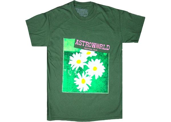 919d74b92664 Travis Scott Astroworld Festival Run Flower Tee Olive