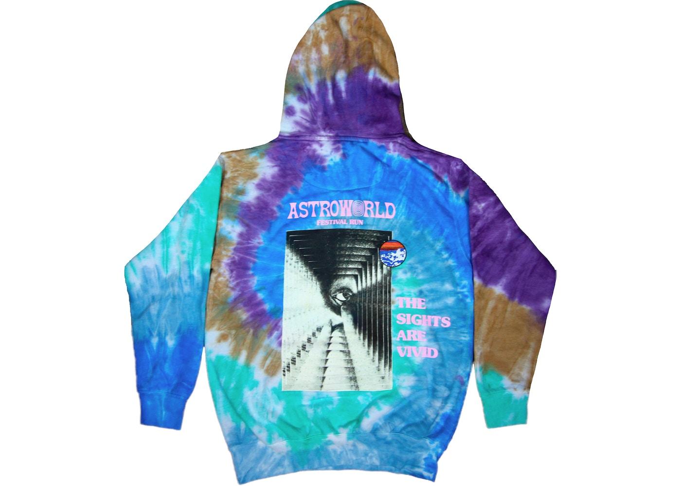ecbe9dd0833a Travis Scott Astroworld Festival Run Hoodie Tie Dye - SS19