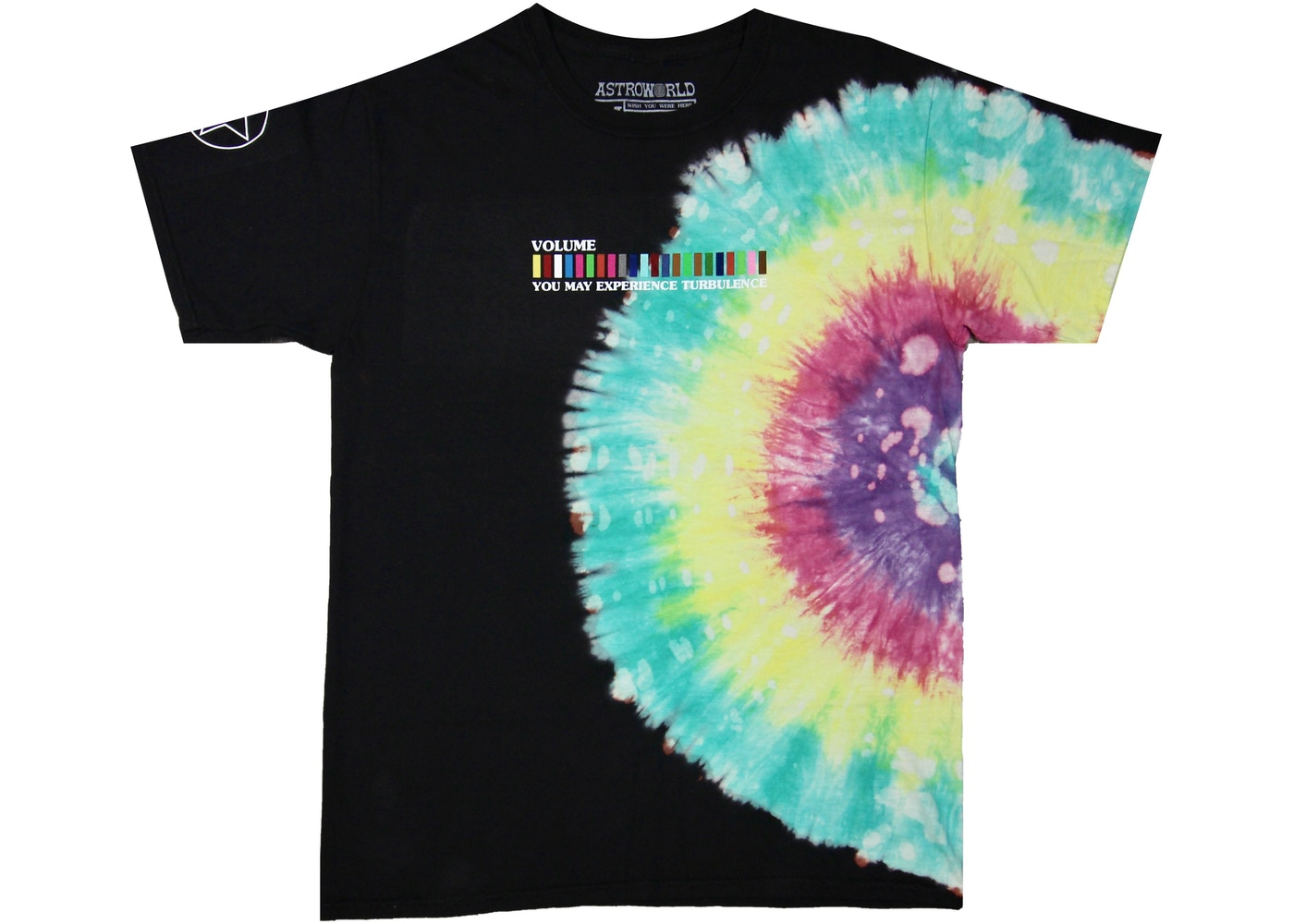 TRAVIS SCOTT ASTROWORLD FESTIVAL RUN TIE DYE TEE BLACK