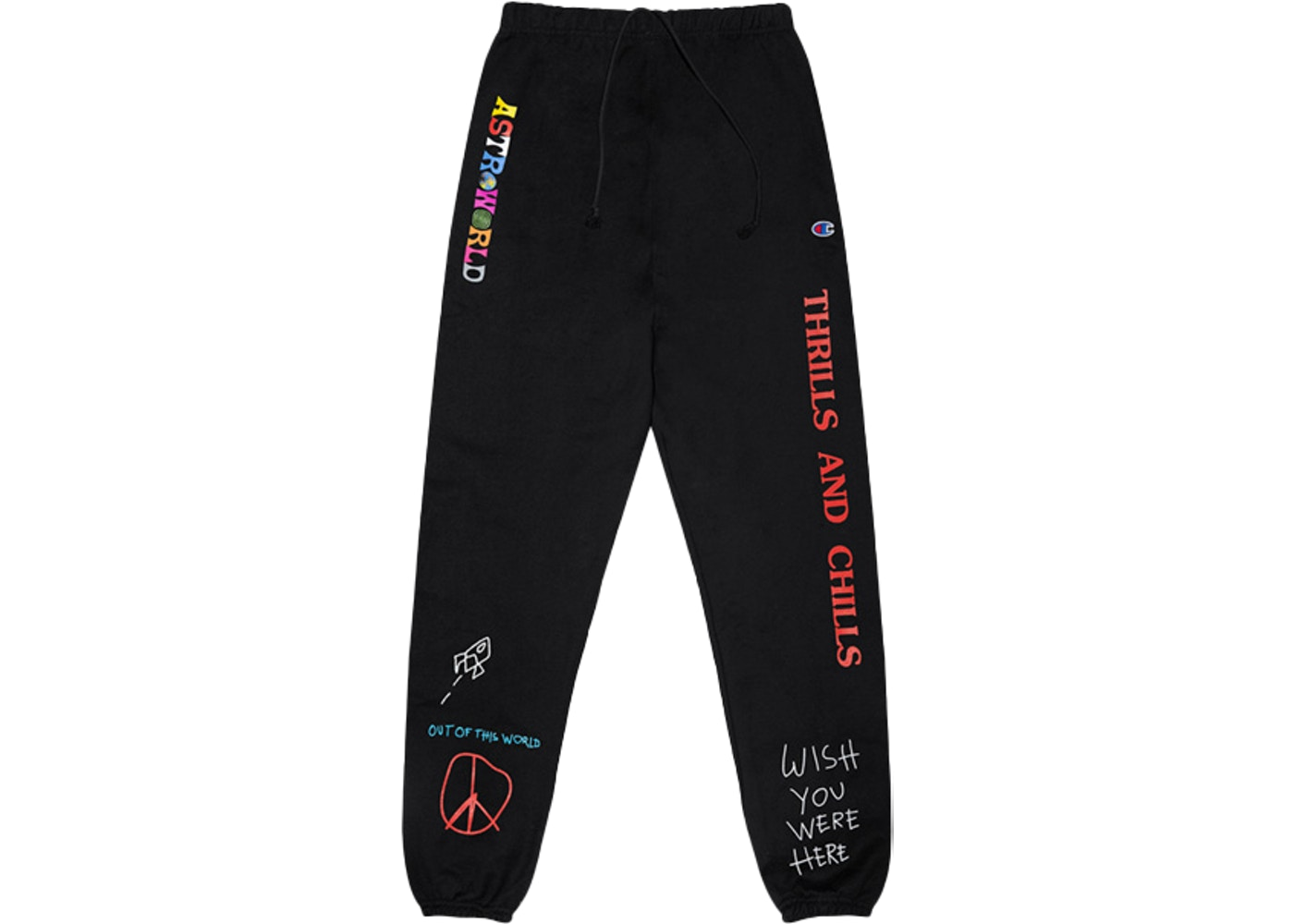 cd834f4f Travis Scott Astroworld Thrills And Chills Sweatpants Black