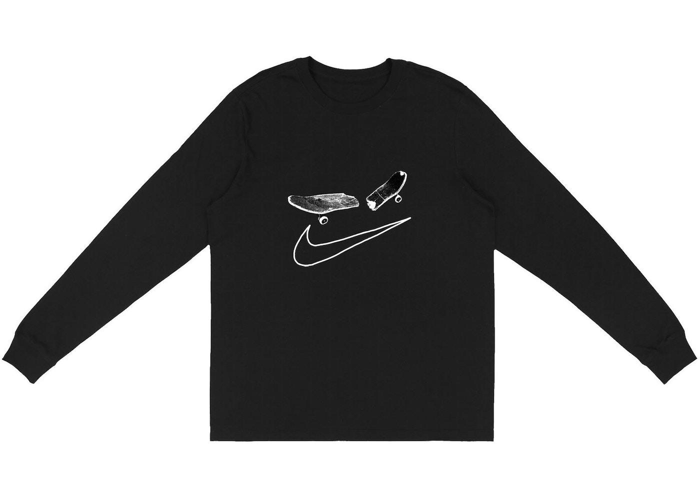 promoción el precio se mantiene estable descuento Travis Scott Cactus Jack For Nike SB Longsleeve T-Shirt I Black - SS20