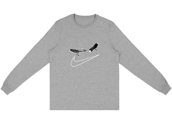 comprar lujo Precio reducido nuevo estilo y lujo Travis Scott Cactus Jack For Nike SB Longsleeve T-Shirt II Grey - SS20