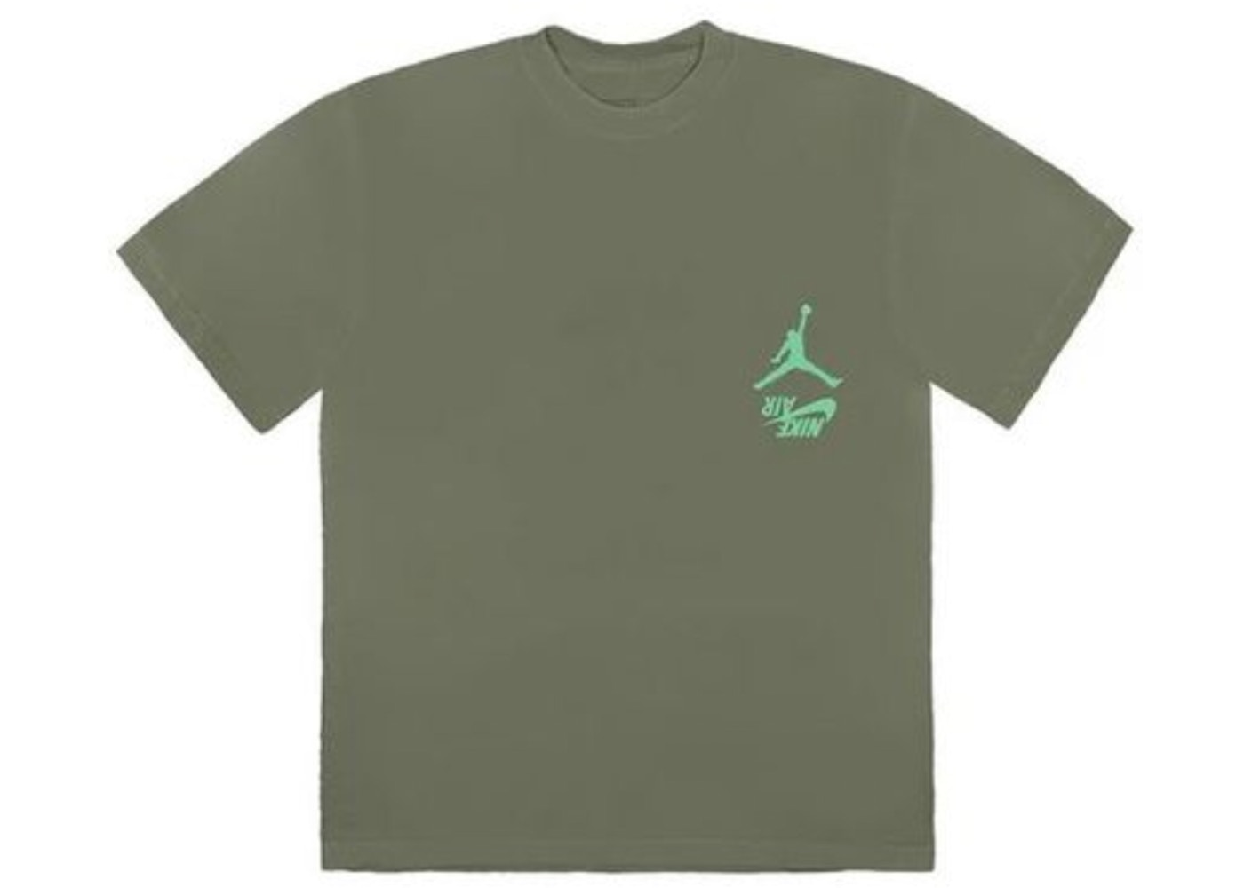 Travis Scott Jordan Cactus Jack Highest T Shirt Olive Fw19