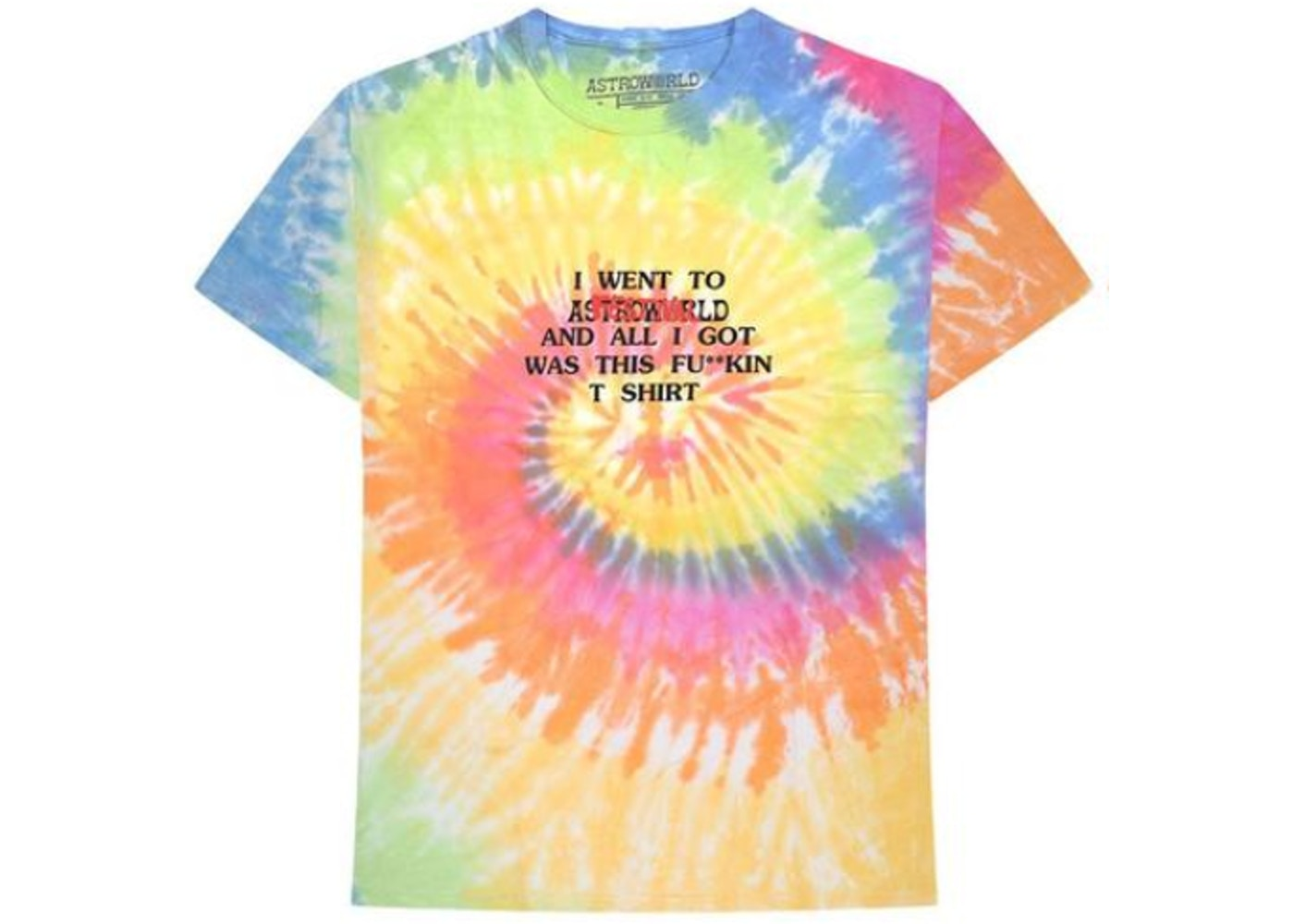 b02f7db980a3 Travis Scott Where Were You Tee Tie Dye. Where Were You