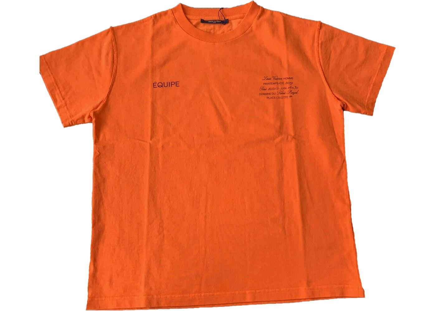 60a5436e Virgil Abloh x MCA Figures of Speech Louis Vuitton Tee Orange - SS19