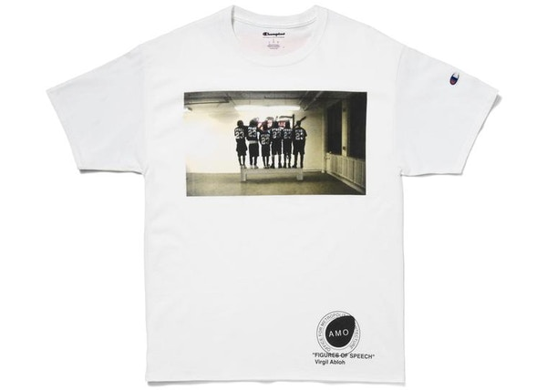 5e6f6abf Virgil Abloh x MCA Figures of Speech Pyrex Team Tee (Black Bar Version)  White