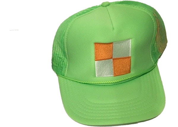 c950d4b1c1df8a Virgil Abloh x MCA Figures of Speech Square Trucker Hat Green