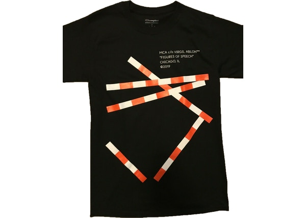 3313116e Virgil Abloh x MCA Figures of Speech Tape Tee Black