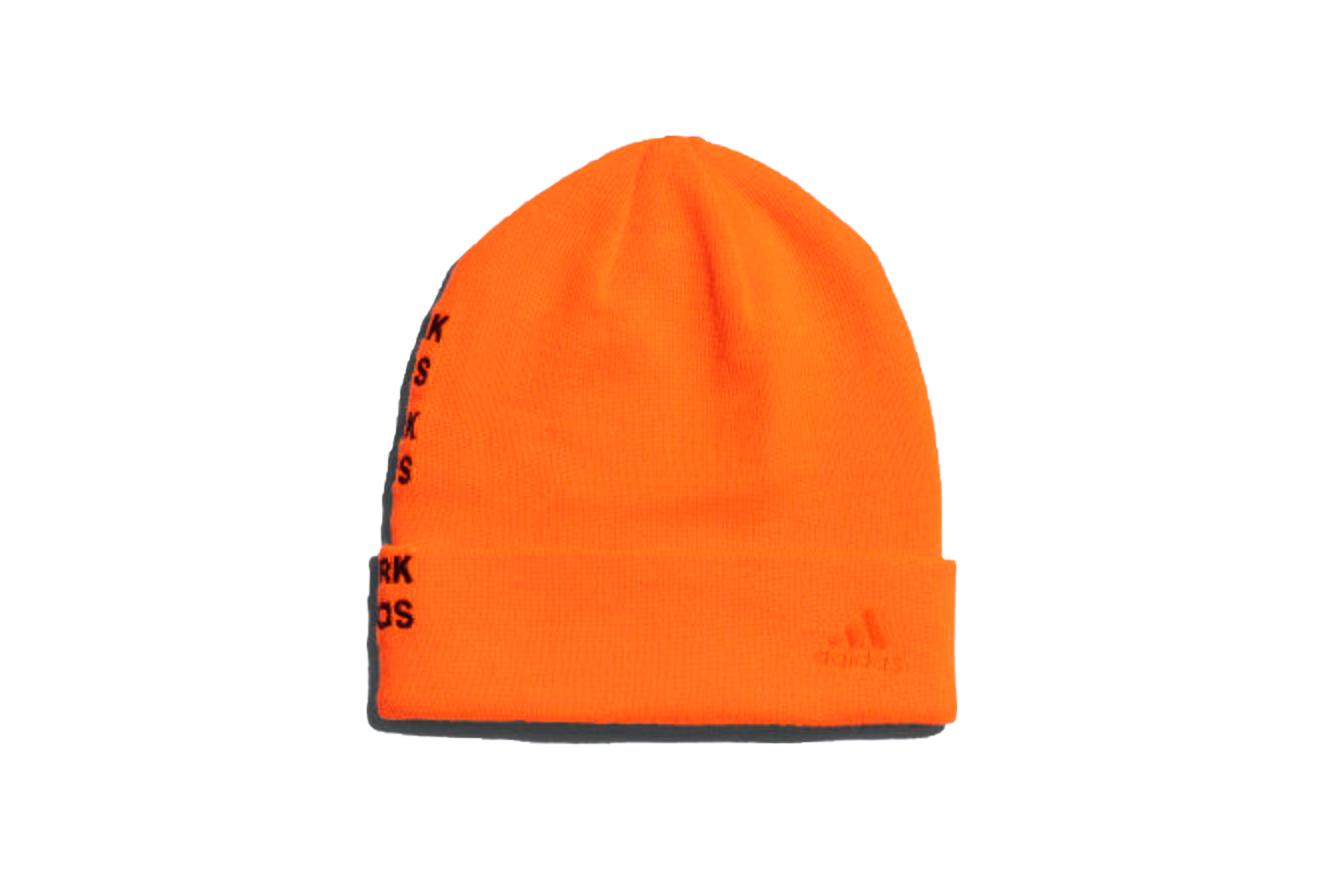 Adidas Originals Adidas Ivy Park Logo Beanie Solar Orange/maroon
