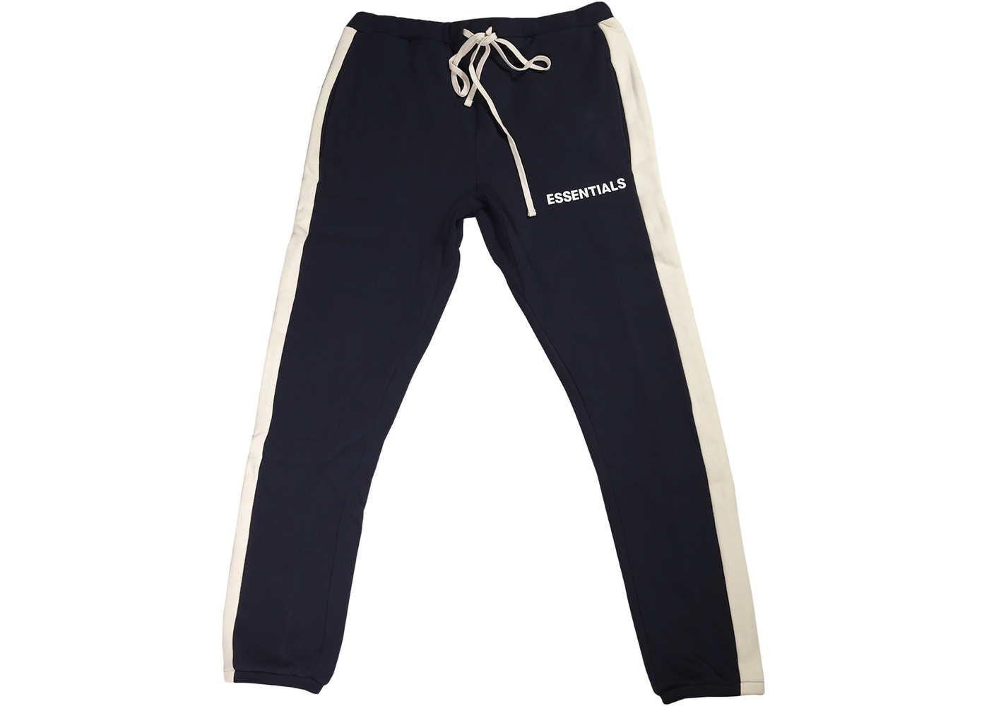 4058f039 FEAR OF GOD Essentials Side Stripe Sweatpants Navy - FW18