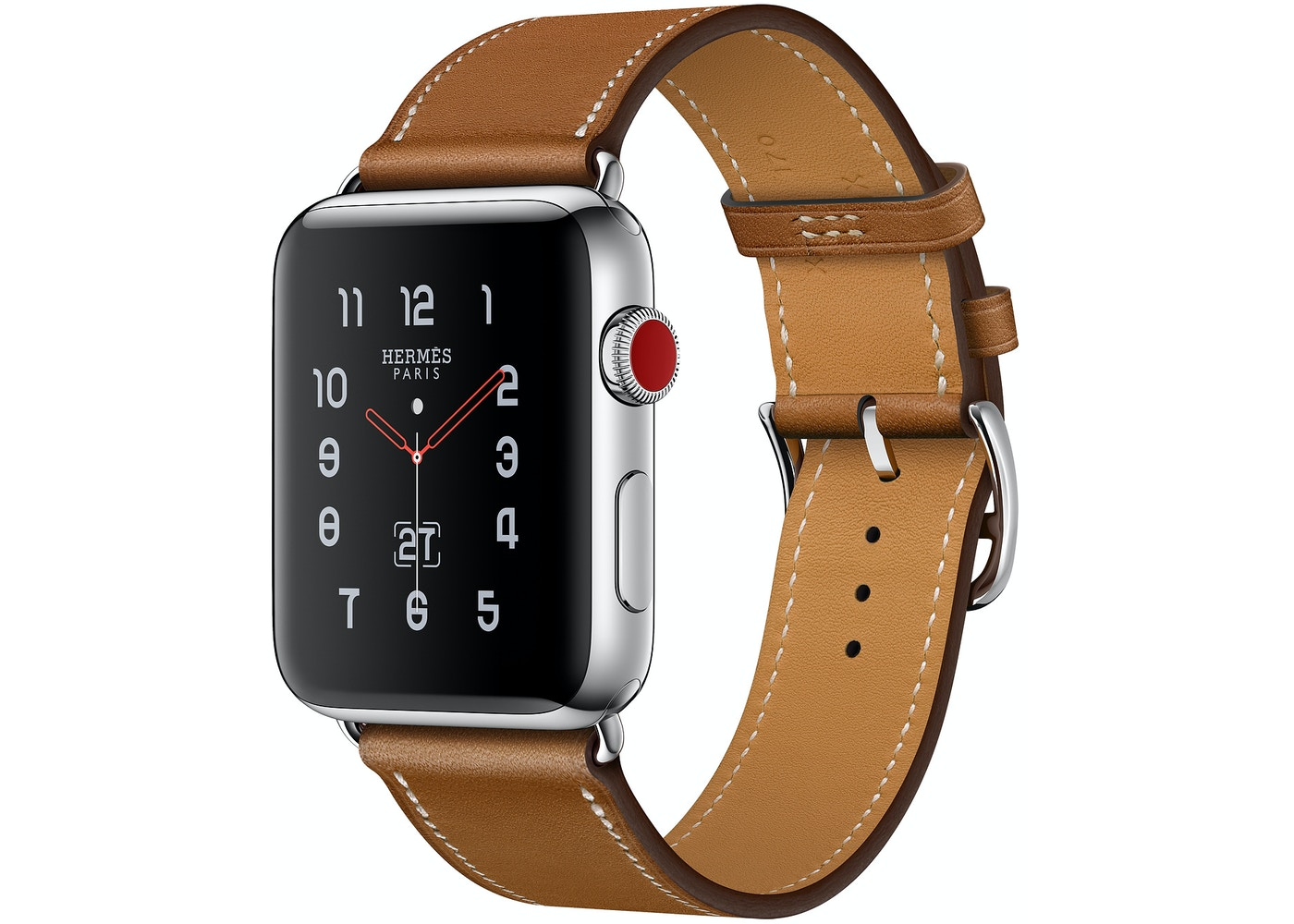 on sale f1c4a 63d0c Apple Watch Hermes Series 3 GPS + Cellular 42mm Space Gray Stainless ...