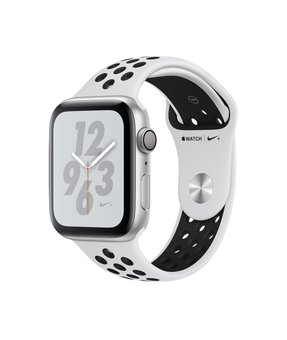 Apple Watch Nike+ Series 4 GPS 44mm Silver Aluminum Case with Pure Platinum A1978