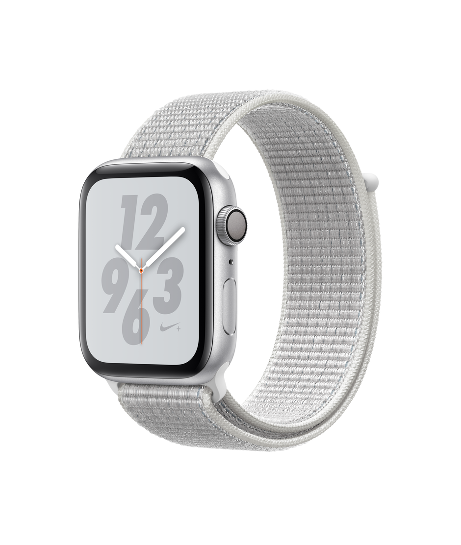 Apple Watch Nike+ Series 4 GPS 44mm Silver Aluminum Case with Summit White A1978