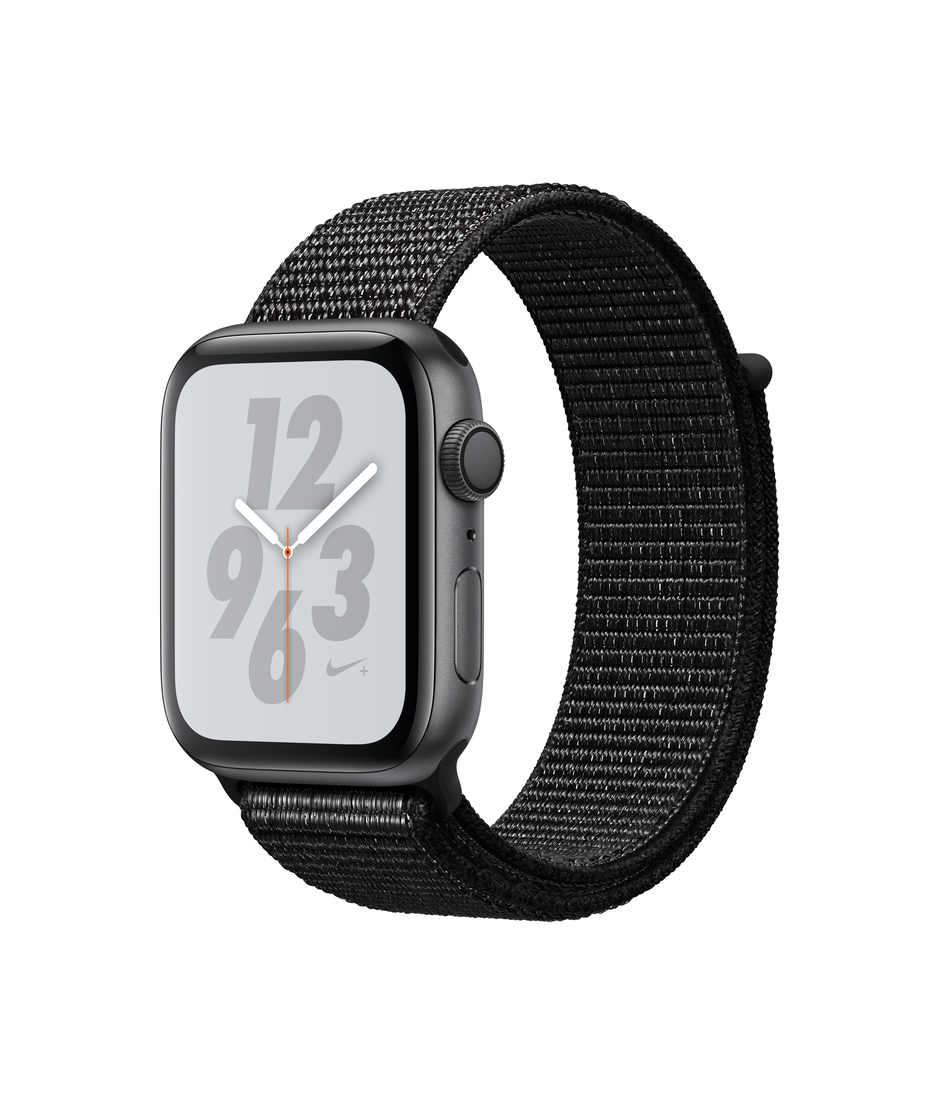 Apple Watch Nike+ Series 4 GPS 44mm Space Gray Aluminum Case with Black A1978
