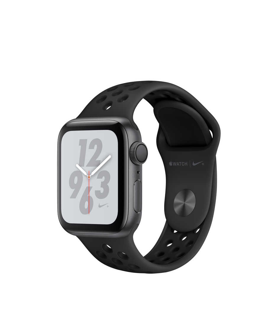 Apple Watch Nike+ Series 4 GPS + Cellular 40mm Space Gray Aluminum Case with Anthracite/Black A1975