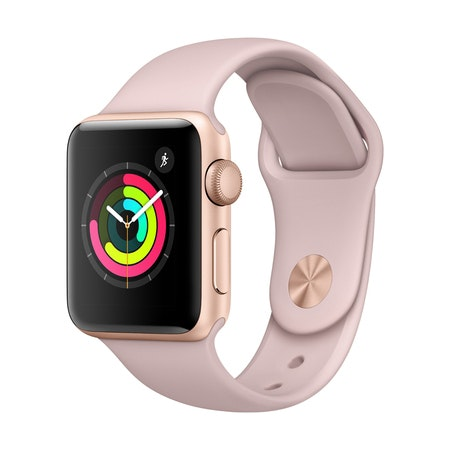 Apple Watch Series 3 GPS 38mm Gold Aluminum Case with Pink Sand Sport Band A1858