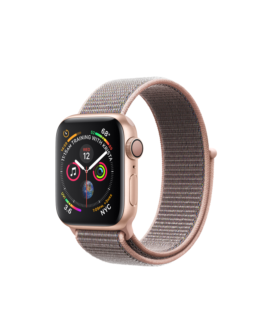 Apple Watch Series 4 GPS 40mm Gold Aluminum Case with Pink Sand Sport Loop A1977