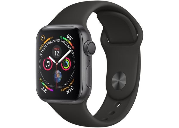 Apple Watch Series 4 GPS 40mm Space Gray and Black A1977