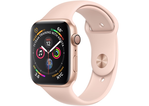Apple Watch Series 4 GPS 44mm Gold Aluminum Case with Pink Sand Sport Band A1978