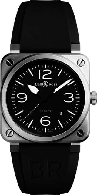 Bell and Ross Aviation BR0392-BL-ST