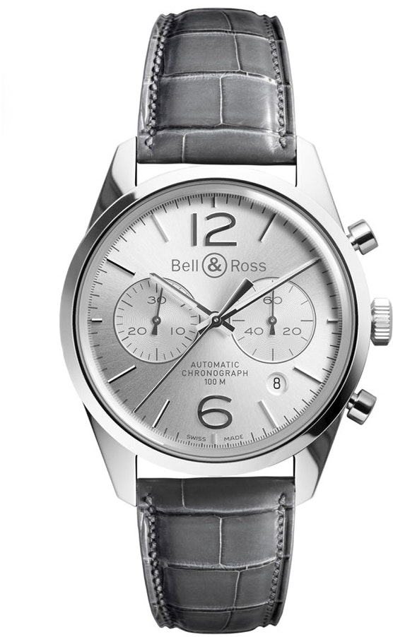 Bell and Ross Vintage BRG126-WH-ST/SCR