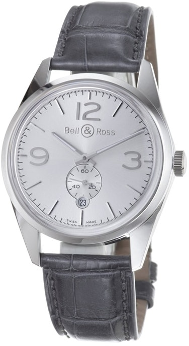 Bell and Ross Vintage Officer BRG123-WH-ST/SCR